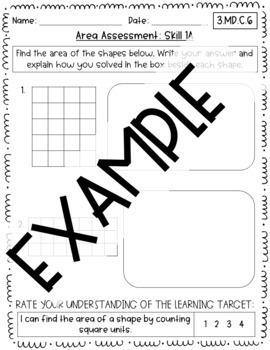 Third Grade Area Assessment Bundle: All CCSS {Google Classroom & PDF Included}