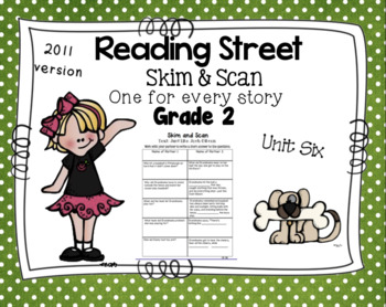 Skim and Scan Comprehension Reading Street - Grade 2 Unit Six 2011 Version