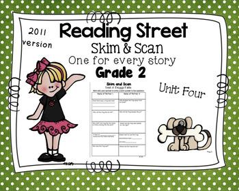Skim and Scan Comprehension Reading Street - Grade 2 Unit Four 2011 Version