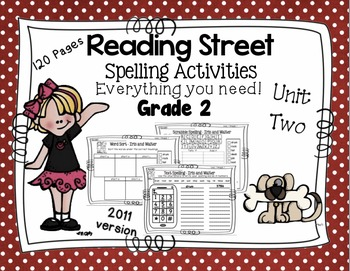 Spelling Activities Reading Street - Grade 2 Unit Two