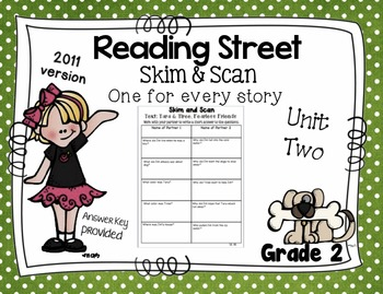 Skim and Scan Comprehension Reading Street - Grade 2 Unit