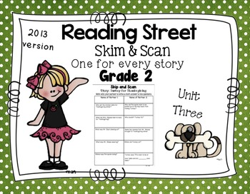 Skim and Scan Reading Street - Grade 2 Unit Three 2013 Version