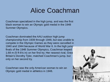 Skimming/Scanning: Famous African American Olympians