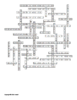 Skin, Bone, and Muscles Vocabulary Crossword for Middle School Science