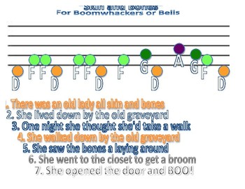 Skin and Bones for Bells or Boomwhackers
