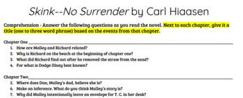 Skink--No Surrender by Carl Hiaasen Reading Comprehension