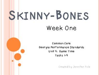 Skinny-Bones CCGPS Tasks 1 - 4 (Week One)
