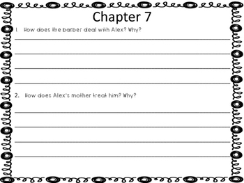 Skinny-Bones Guided Reading Questions and Activities