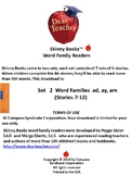 Skinny Books are fun to read!  Word Families ad, ay, am Stories