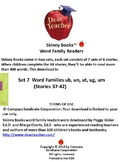 Skinny Books are fun to read! Word Families ub, un, ut, ug