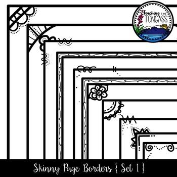Skinny Borders 1 Clipart Bundle