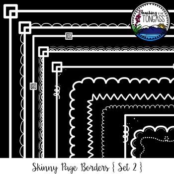 Skinny Borders 2 Clipart