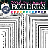 Skinny Borders Color | 300 Scalloped and Skinny Black & Br