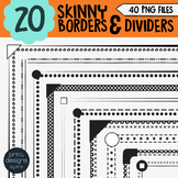 Skinny Borders Clipart • Worksheet Borders & Dividers