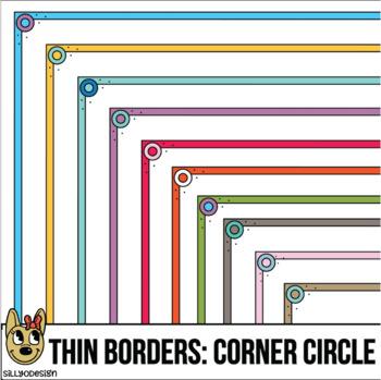Skinny Borders: Corner Circles  (Letter & Square Clip Art)