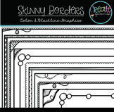 Skinny Borders - Digital Clipart