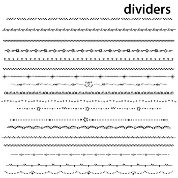 Skinny Borders & Dividers B&W