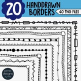 Skinny Borders Handdrawn Clipart • Worksheet Borders