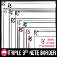 Skinny Borders: Music Notes and Triangles Bundle