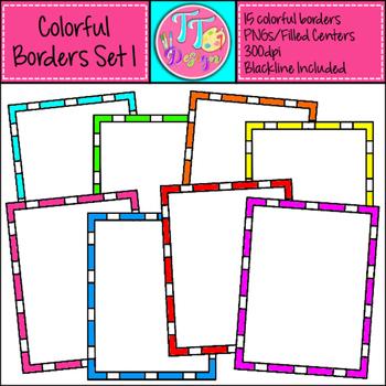 Skinny Borders Set 1 Clip Art CU OK
