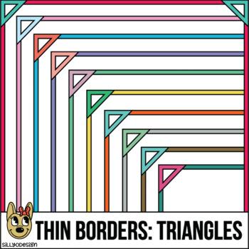 Skinny Borders: Triangle Frames  (Letter & Square Clip Art)