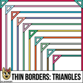 Skinny Borders: Triangle Frames  (Letter & Square Clip Art)