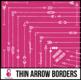 Skinny Borders: White Arrow Doodles (Letter, Square, & Dividers)