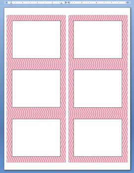 Skinny Chevron Borders and Frames