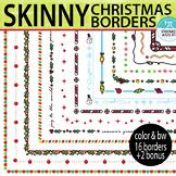 Skinny Christmas Borders & Frames