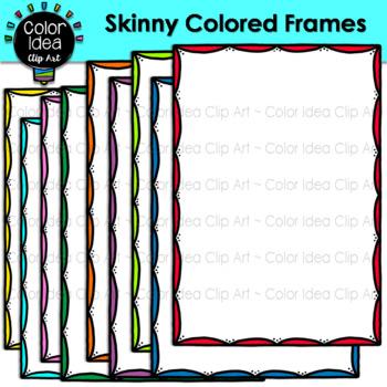 Skinny Colored Frames