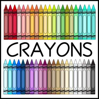 Skinny Crayons Clip Art (High Resolution)