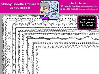 Skinny Doodle Frames II