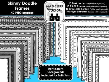 Skinny Doodle Frames Set
