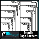 Skinny Doodle Page Borders Clip Art