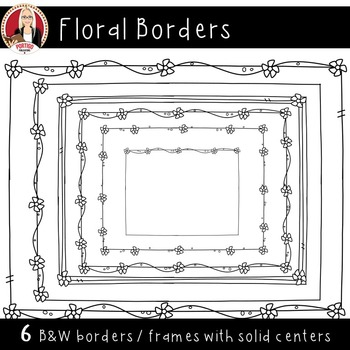 Skinny Floral Frames
