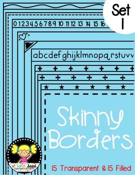 Skinny Frames {Set 1}