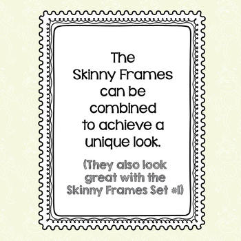 Skinny Frames Set #2
