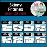 Skinny Frames and Borders clipart - Bundle