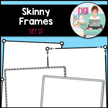 Skinny Frames and Borders clipart - Set 10