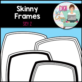 Skinny Frames and Borders clipart - Set 2