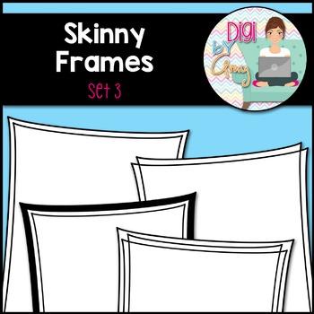 Skinny Frames and Borders Clip Art