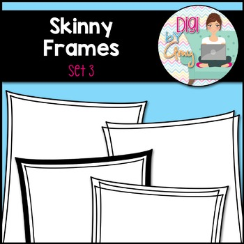 Skinny Frames and Borders clipart - Set 3