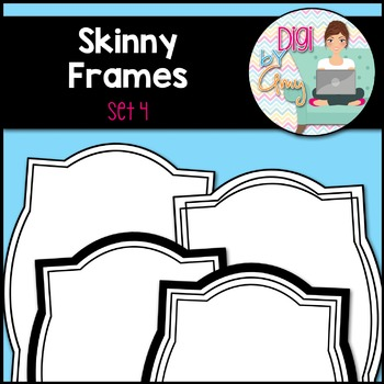 Skinny Frames and Borders clipart - Set 4