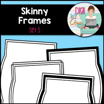 Skinny Frames and Borders clipart - Set 5