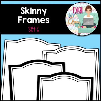 Skinny Frames and Borders clipart - Set 6