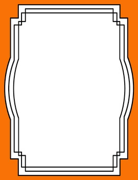 Skinny Frames and Borders clipart - Set 7
