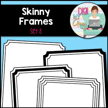 Skinny Frames and Borders clipart - Set 8