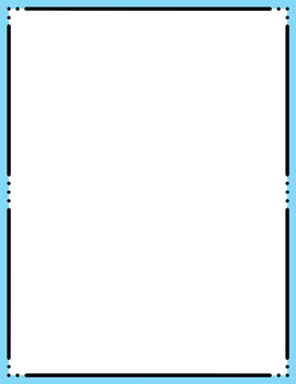 Skinny Frames and Borders clipart - Set 9