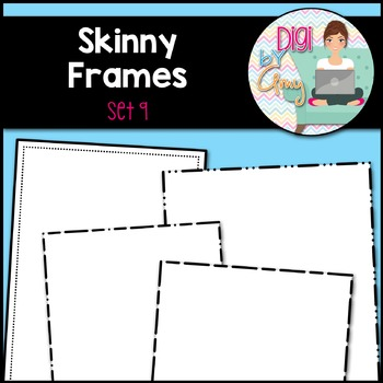 Skinny Frames and Borders Clip Art