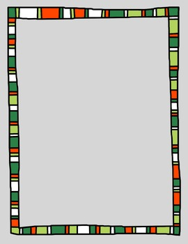 Colored Doodle Frames and Borders Clip Art